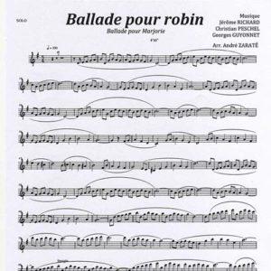 Ballade Pour Marjorie Score Quintet